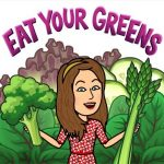 Eat your greens fun image for self care muscle support