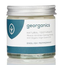 English peppermint georganics toothpaste zero waste