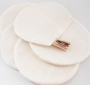 Reusable cotton pads luxury facial treatment
