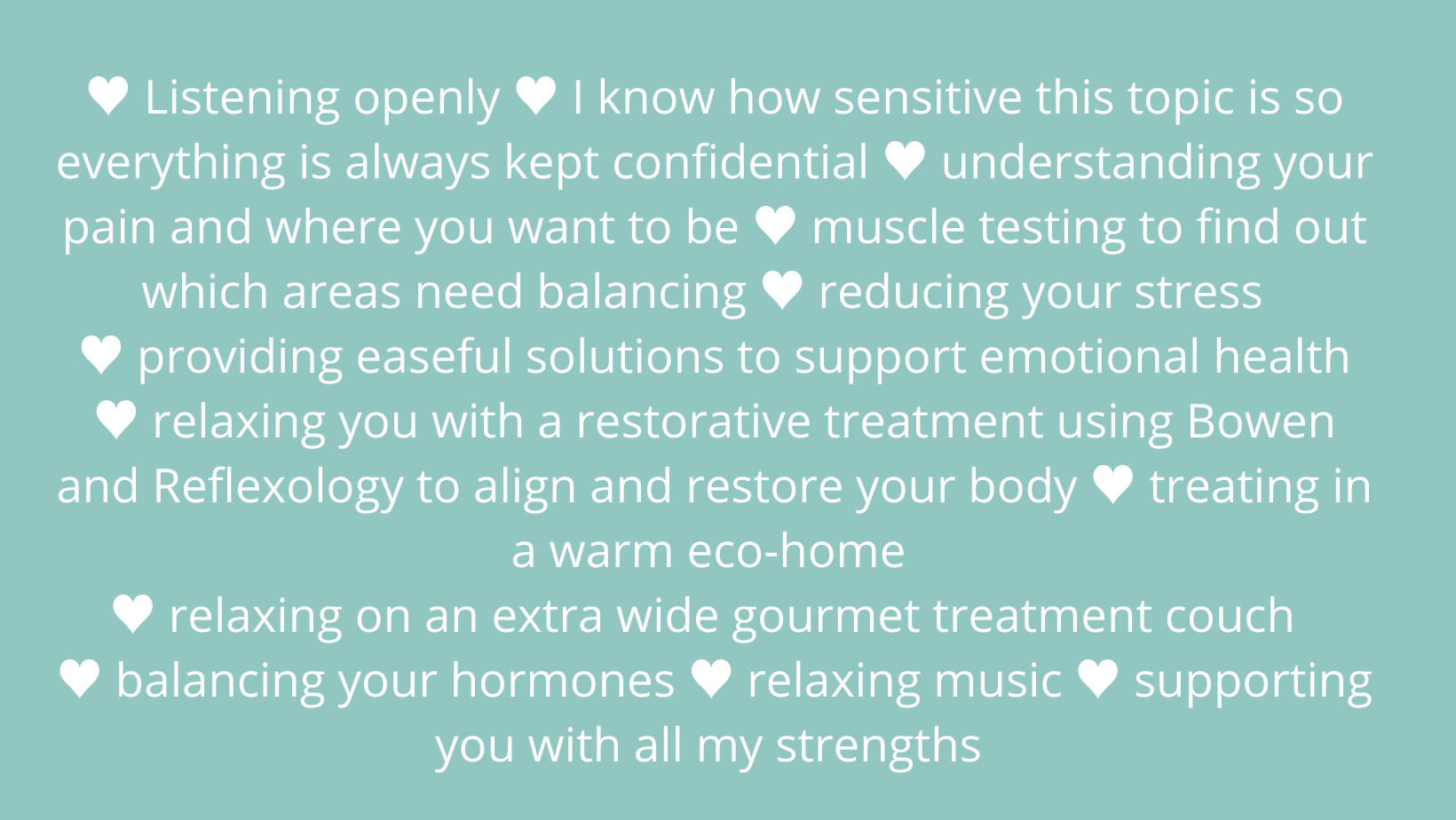 All the ways I take care of your hormones