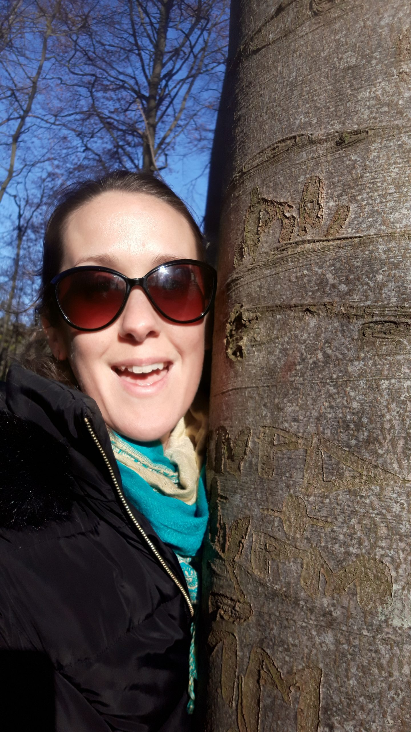 Hugging trees to increase oxytocin